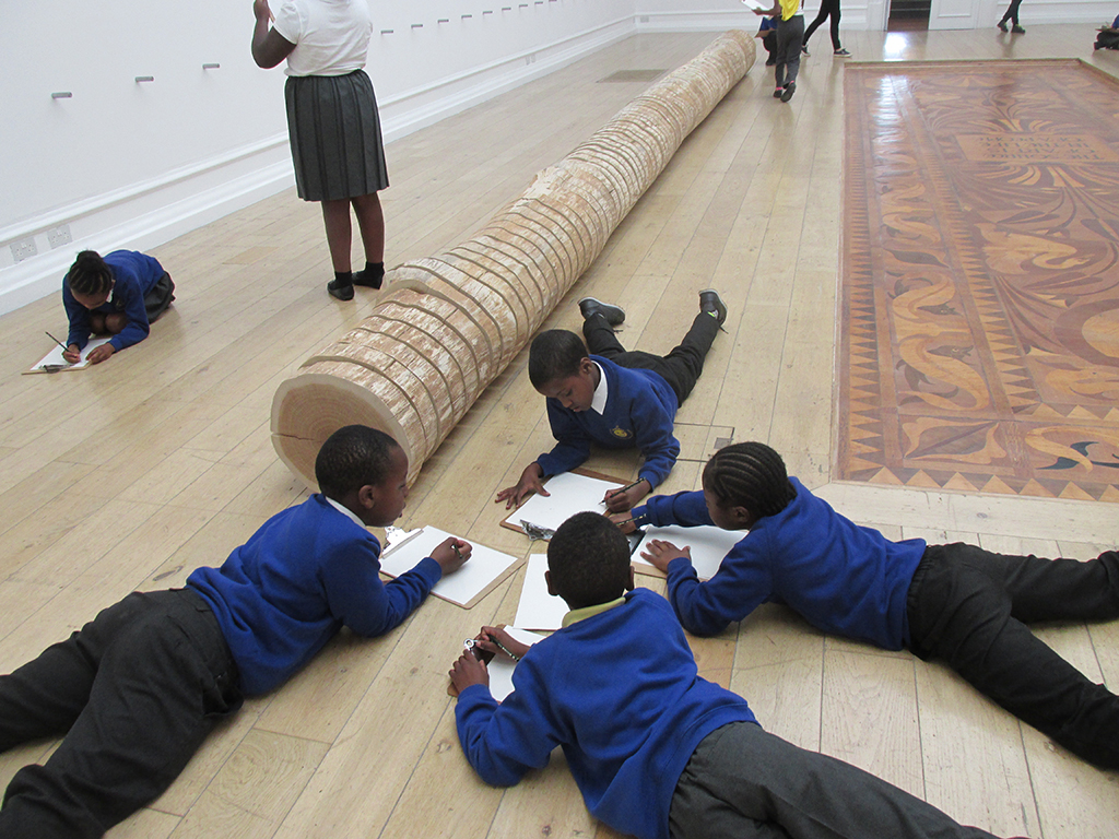 <p>Jubilee Primary School working in Roman Ondak <em>The Source Of Art Is In The Life Of A People.</em></p>