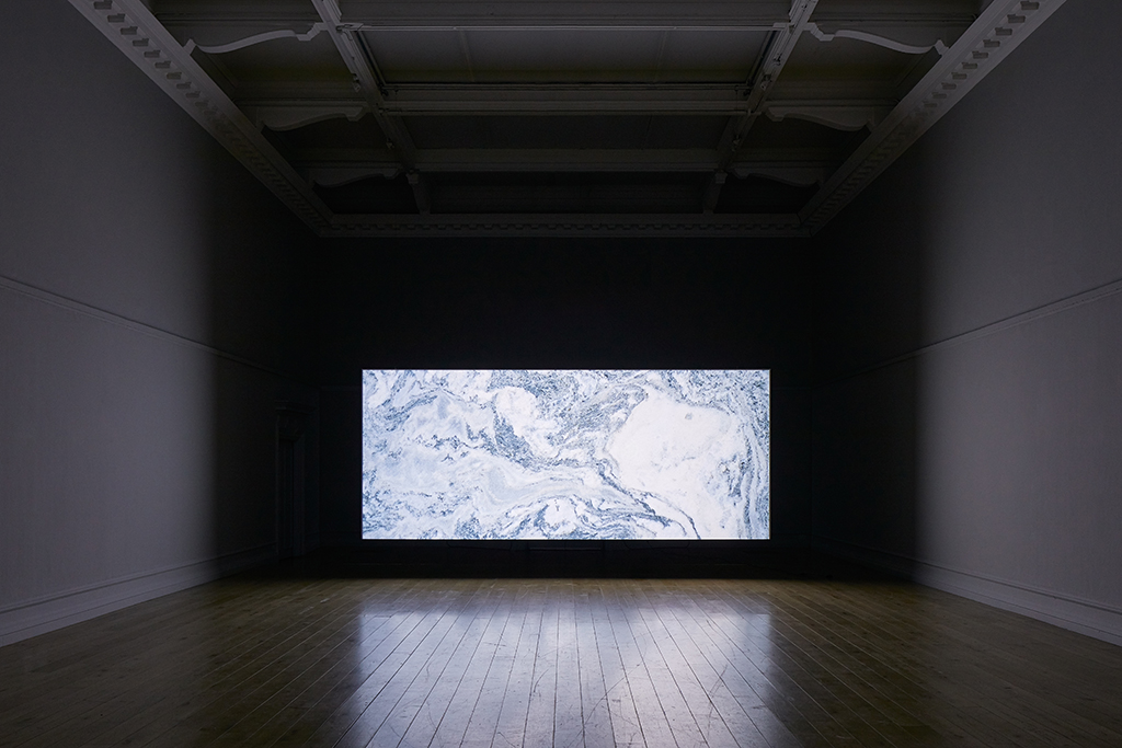 Amie Siegel, Quarry, 2015. HD video, color/sound. Exhibition view South London Gallery, 2017. Courtesy the artist and Simon Preston Gallery, New York. Photo: Andy Stagg