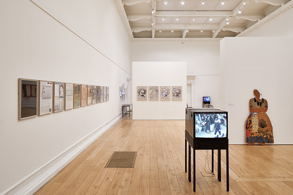 Installation view ofThe Place is Here, South London Gallery, 2017. Photo: Andy Stagg.