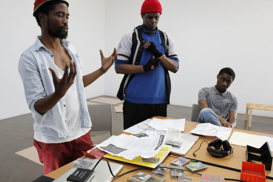 <p>Artist Rangoato Hlasane works with the SLG's young people's forum, the Art Assassins.</p>