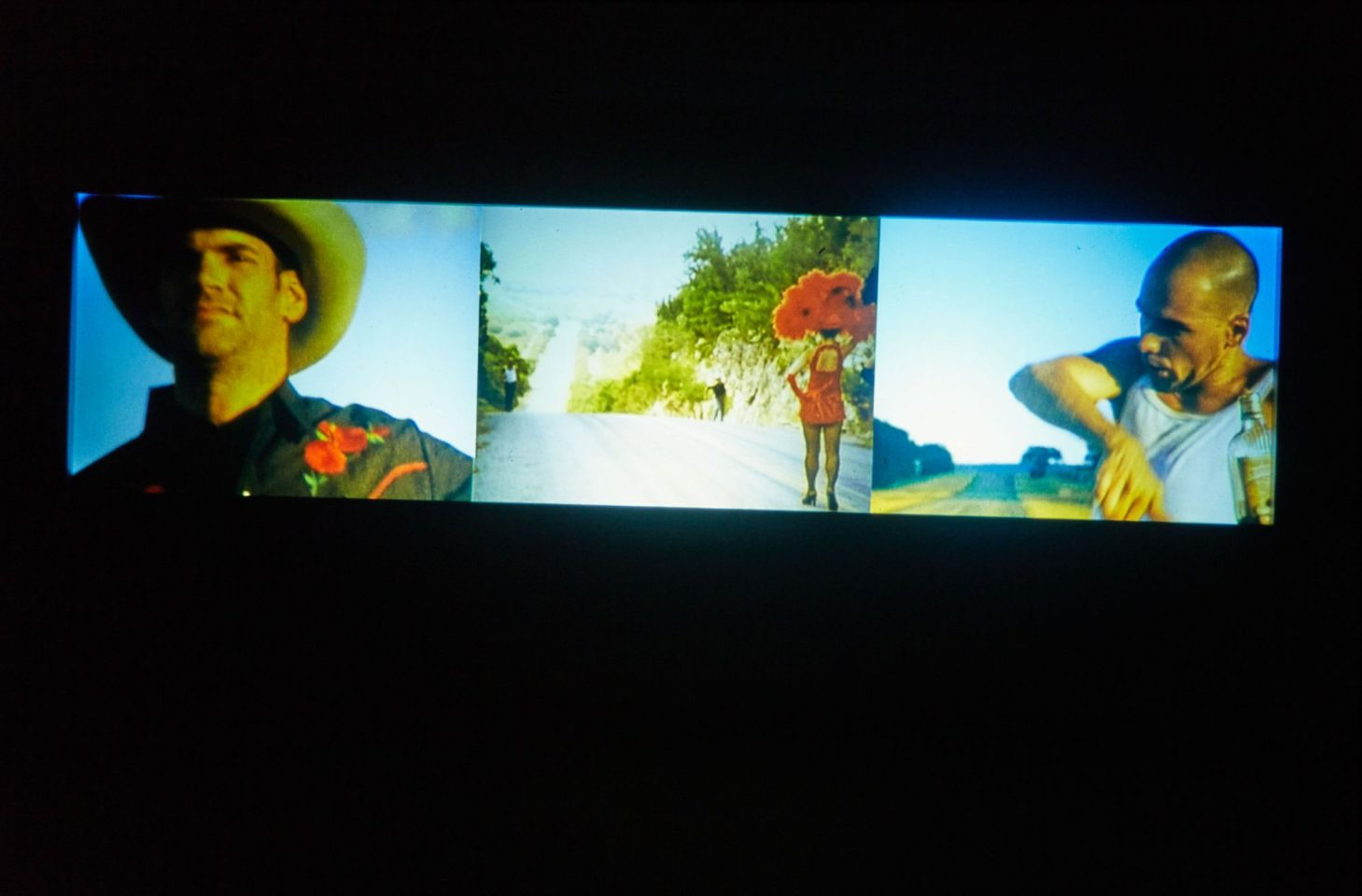 Installation view of Isaac Julien & Javier de Frutos's Cinerama.