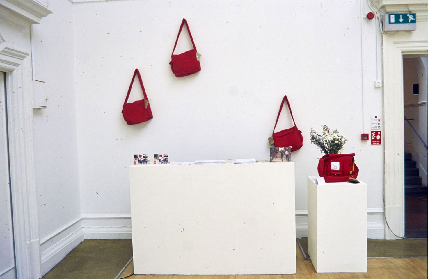 Installation view of the 2001 exhibition Urban Nomads.