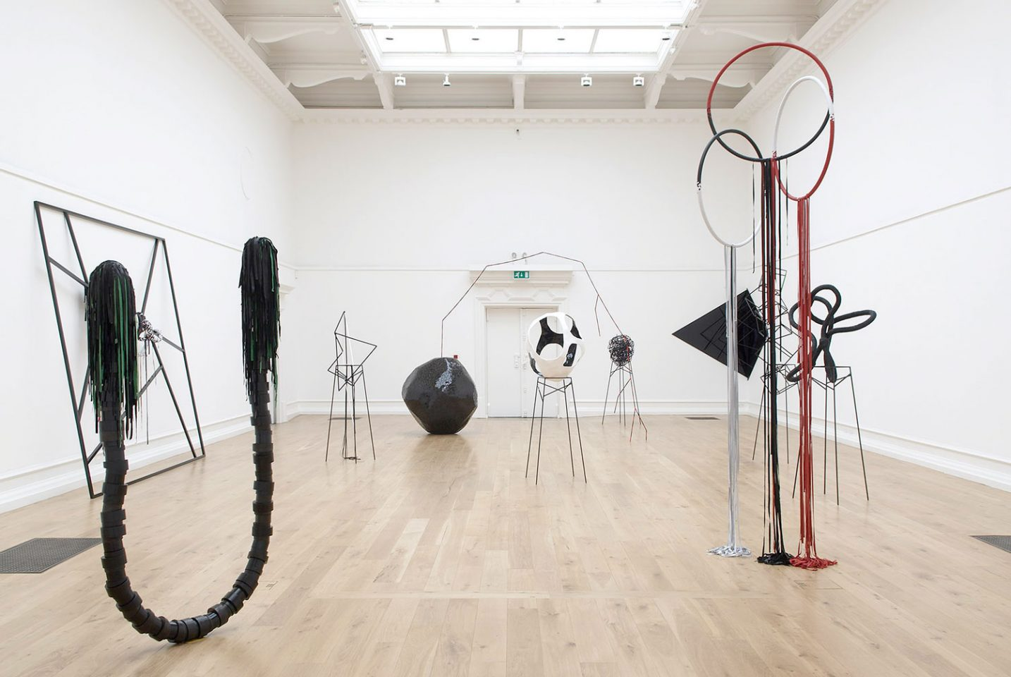 Installation view of Eva Rothschild's 2007 exhibition. Photo: Andy Keate