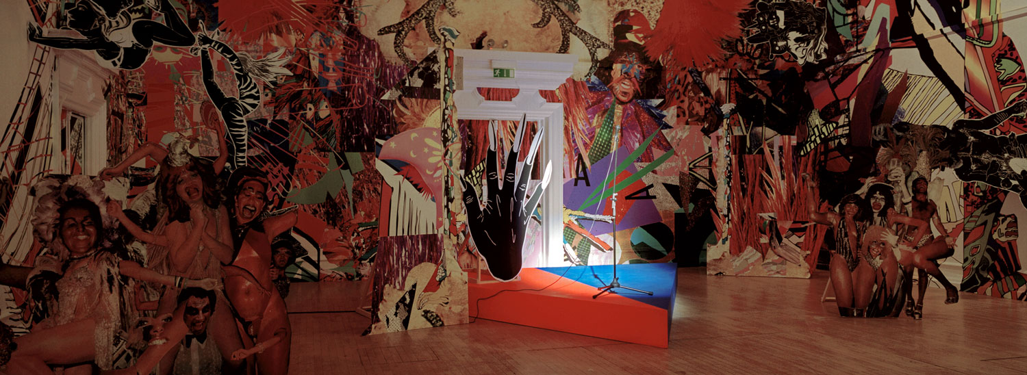 Installation view of 2007 exhibition The Weasel: Pop Music and Contemporary Art. Photo: Dejan Kostic