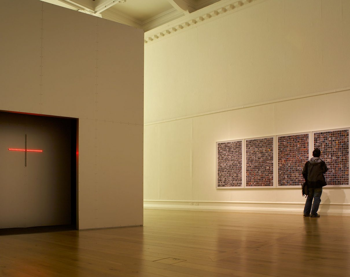 Installation view from Alfredo Jarr's exhibition Politics of the Image, 2008. Photo: Andy Stagg.