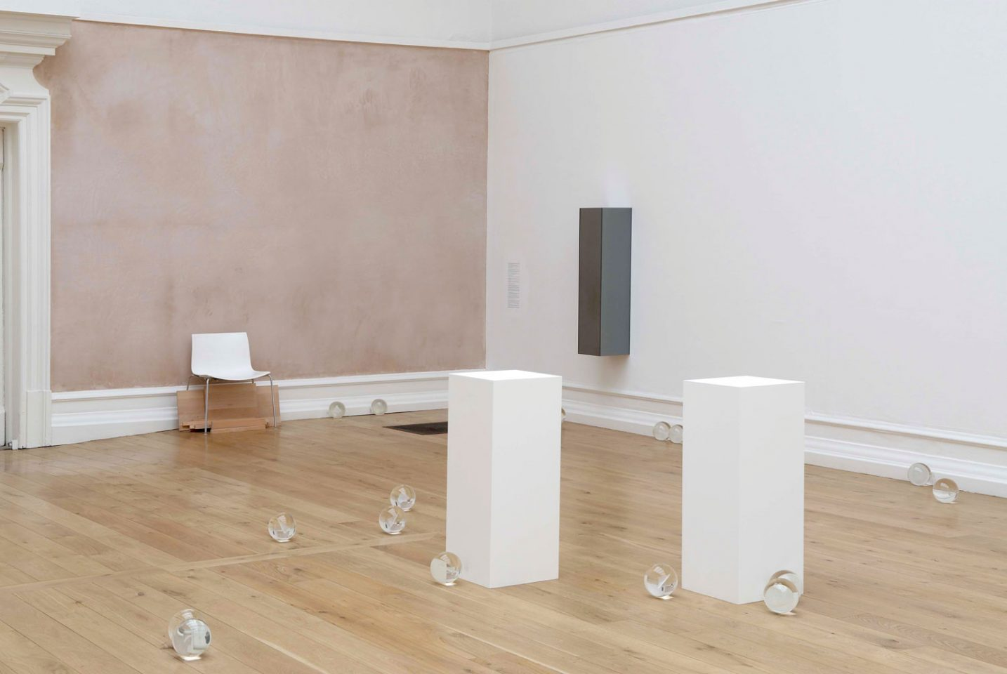 Installation view of Ryan Gander's 2008 exhibition Heralded as the New Black. Photo: Andy Keate