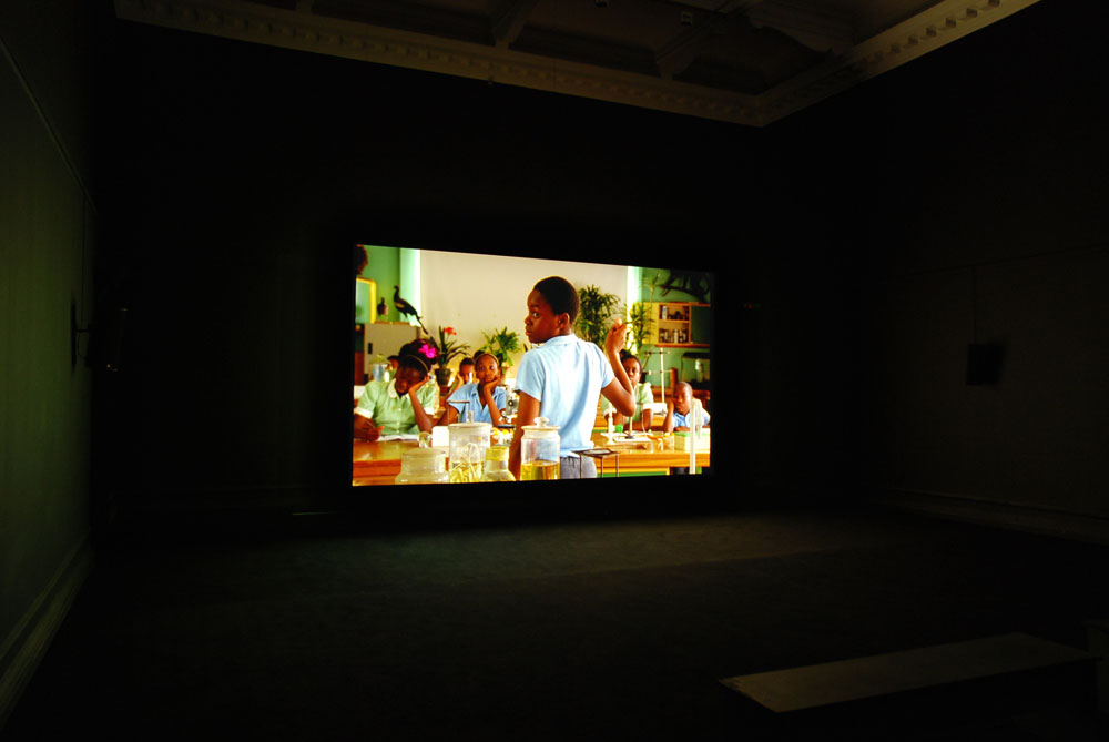 Installation view of Omer Fast, The Casting, 2007. Image: Mark Blower