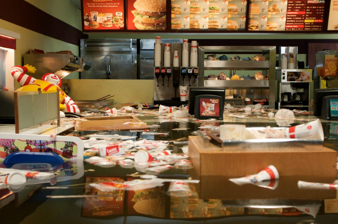 <p>Still from Superflex's <em>Flooded McDonald's</em>. Courtesy the artists.</p>
