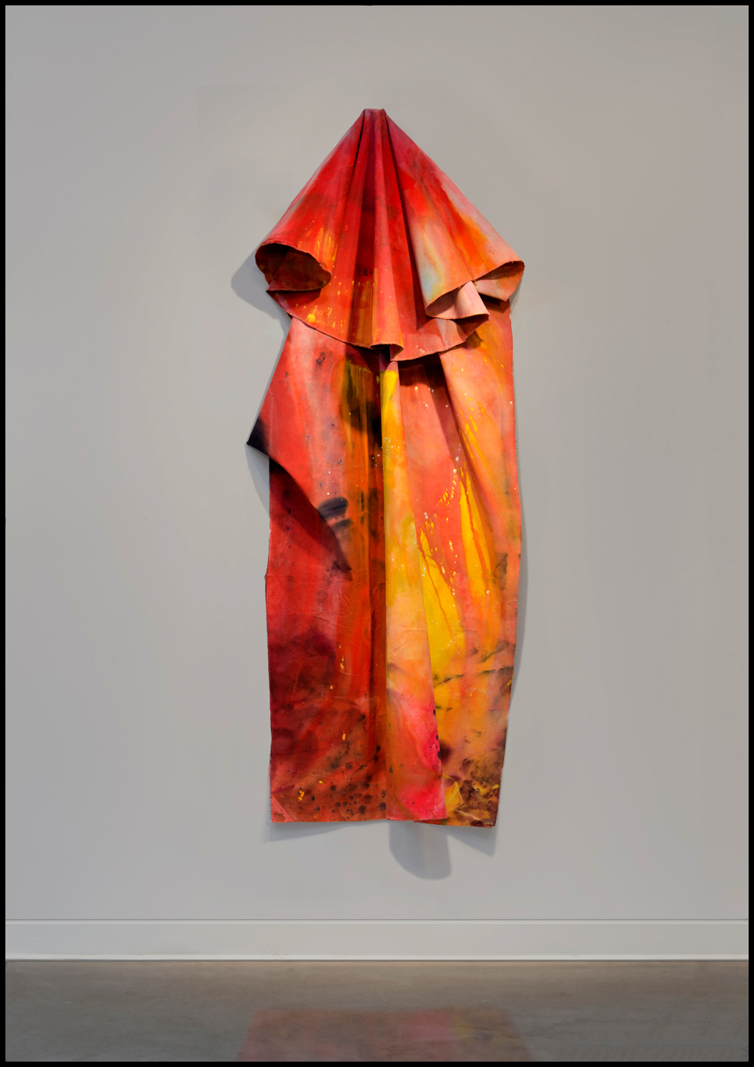 <p>Installation view of Sam Gilliam's <em>One Situation</em> included in the 2012 exhibition Drip, Drape, Draft.</p>