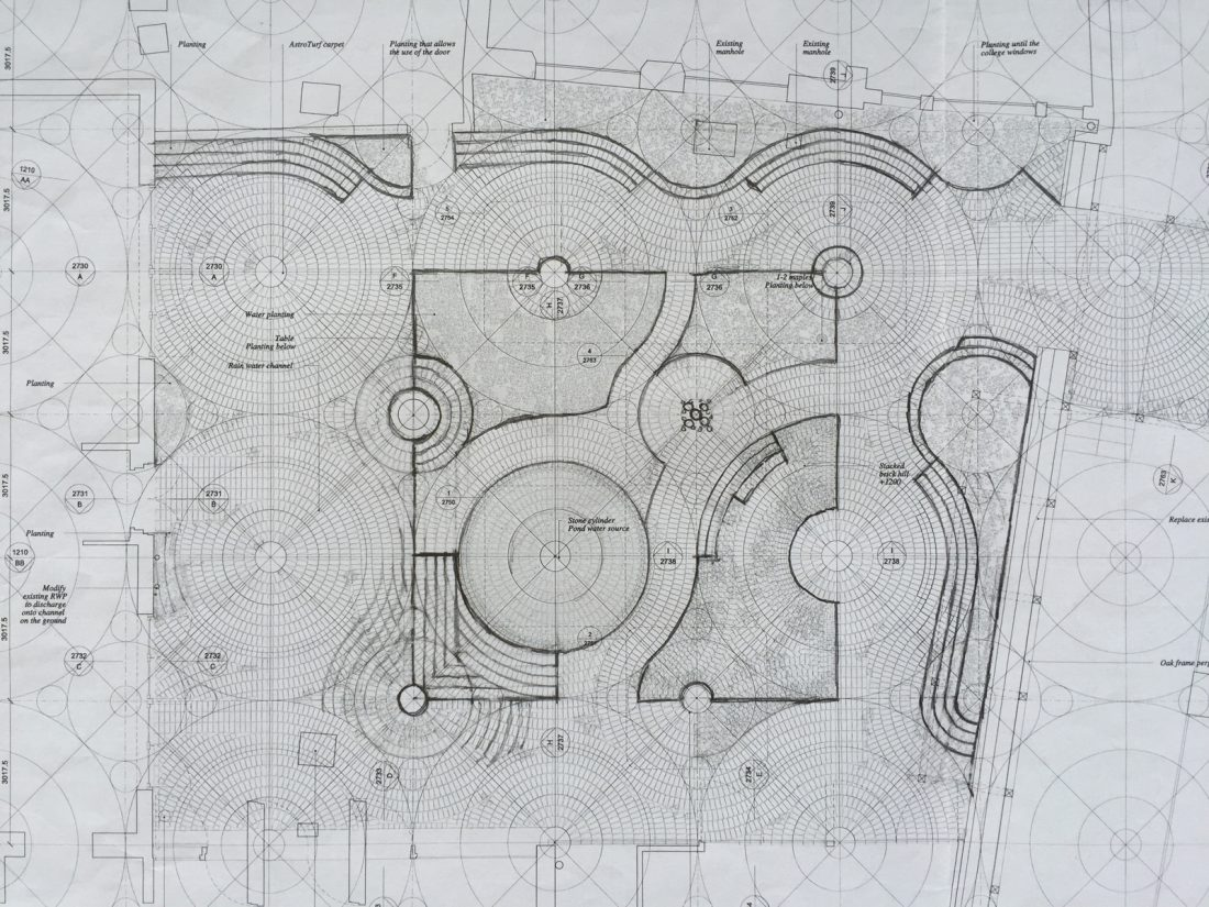 <p>Aerial plans for the Orozco Garden at SLG (c) Gabriel Orozco</p>