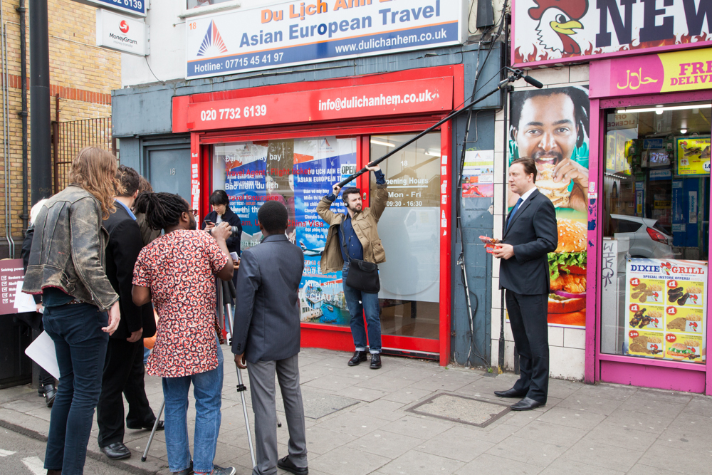 Art Assassins and DashNDem shooting their party political broadcast in Peckham.
