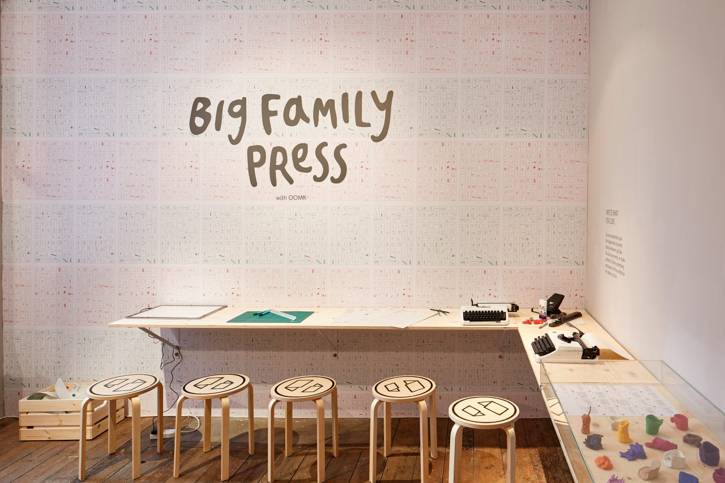 Big Family Press with OOMK, South London Gallery, 2018. Photo: Andy Stagg