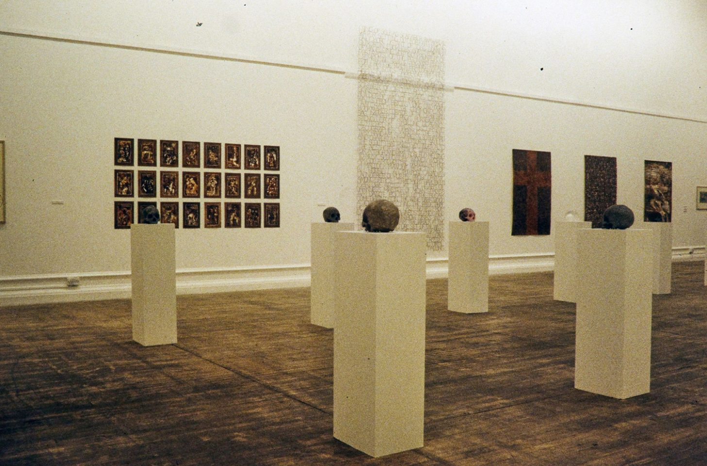 Installation view of Tom Phillips, Sacred and Profane, 1997.