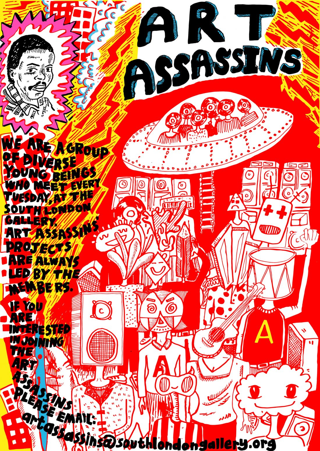 <p>The centrefold from the Art Assassins comic designed by the Art Assassins with Ben Connors.</p>