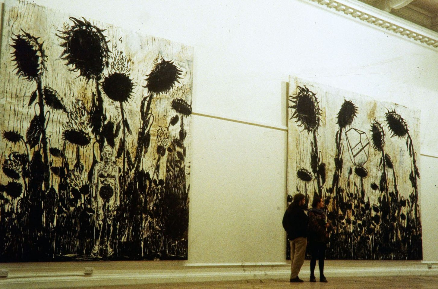 Installation view of Anselm Kiefer's exhibition I Hold All the Indias In My Hand at the South London Gallery, 1996