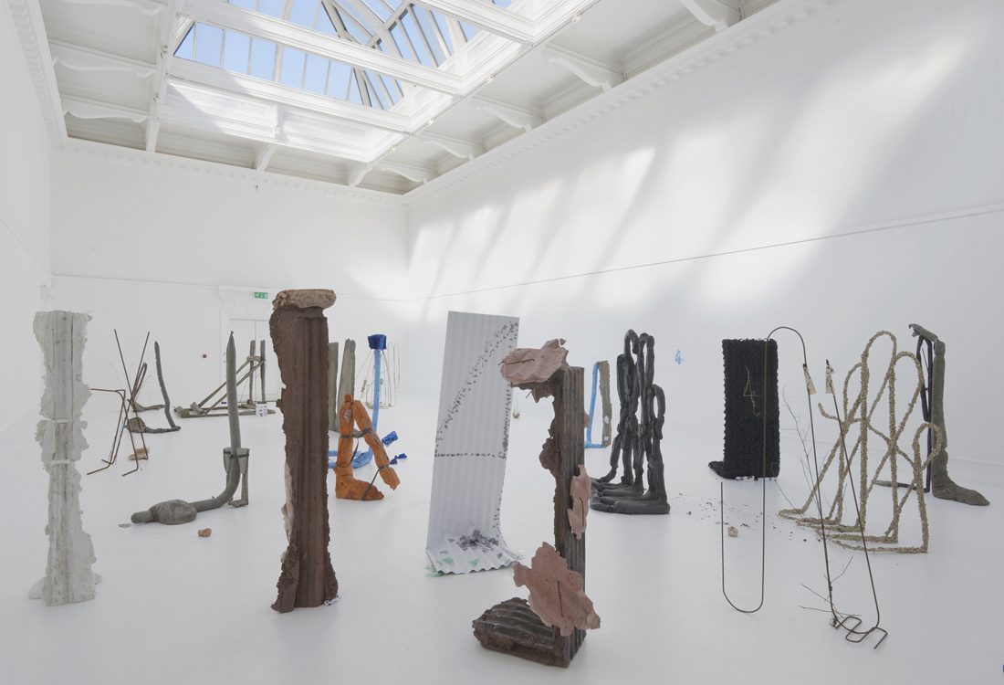 <p>Michael Dean, <em>Sic Glyphs</em>, installation view at the South London Gallery, 2016. Courtesy the artist, Herald St, London, Mendes Wood DM, Sao Paulo, Supportico Lopez, Berlin. Photo: Andy Keate</p>