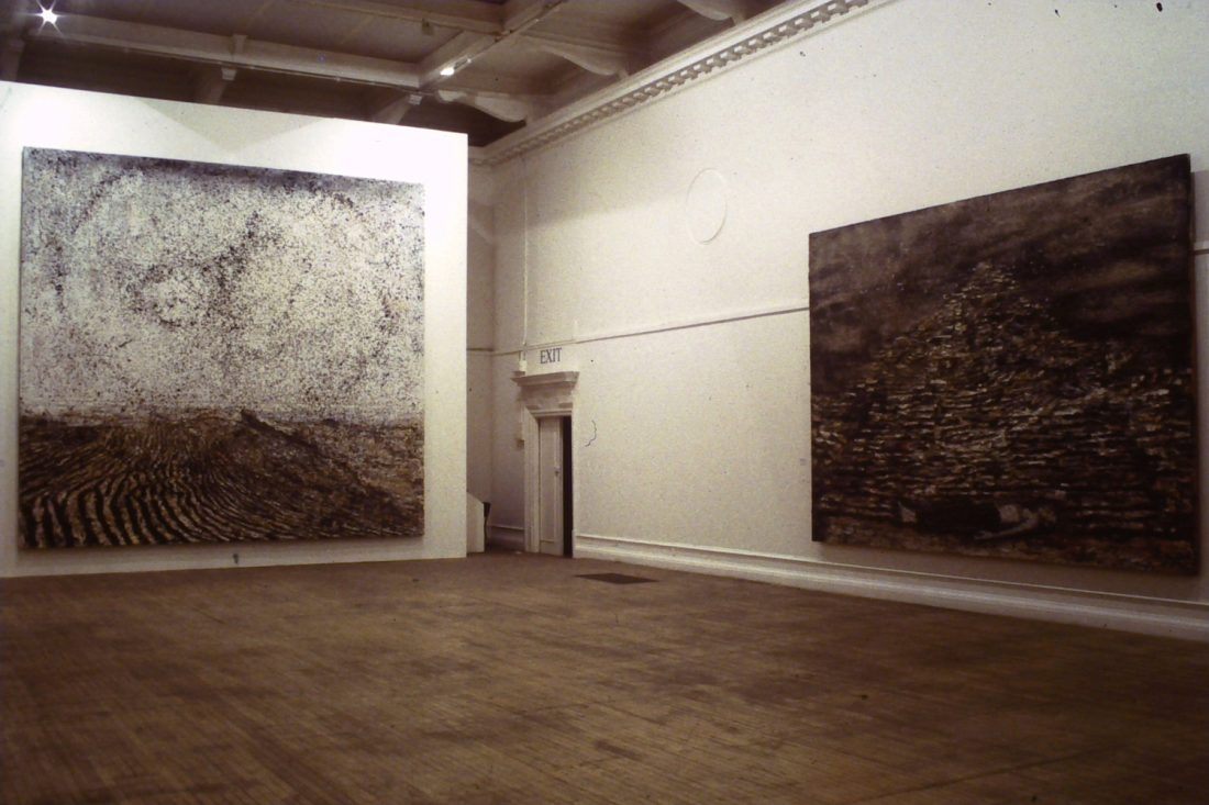 Installation view of Anselm Kiefer: I hold all the Indias in my hand, 1996-97