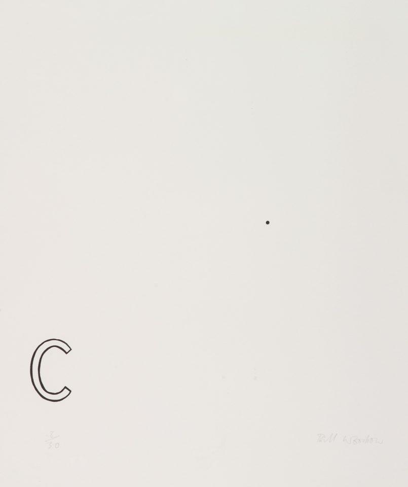 <p>Bill Woodrow, <em>Periodic Table 18</em>, 1994,linocut on paper</p>