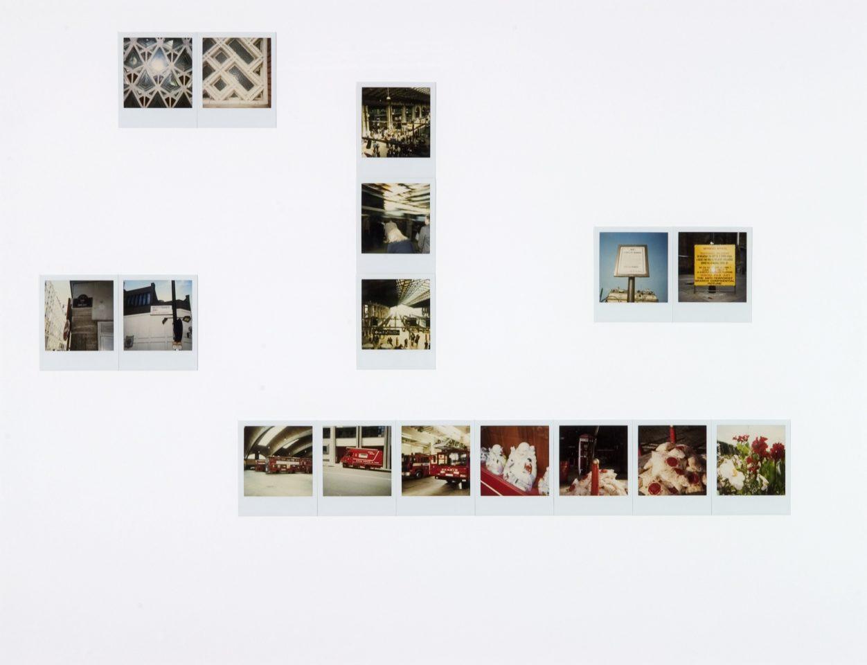 <p>Marc Camille Chaimowicz, Pendulum Polaroids, 2000, Polaroid photographs</p>