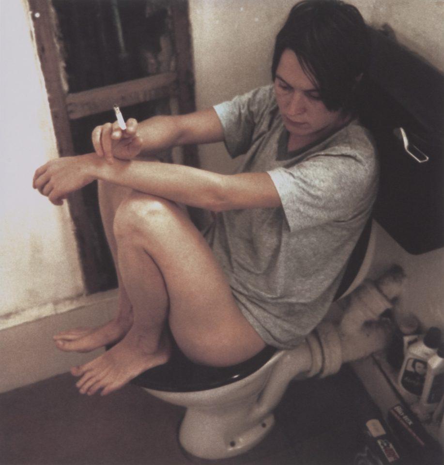 <p>Sarah Lucas, Human Toilet Revisited, 1998, iris prints on paper</p>