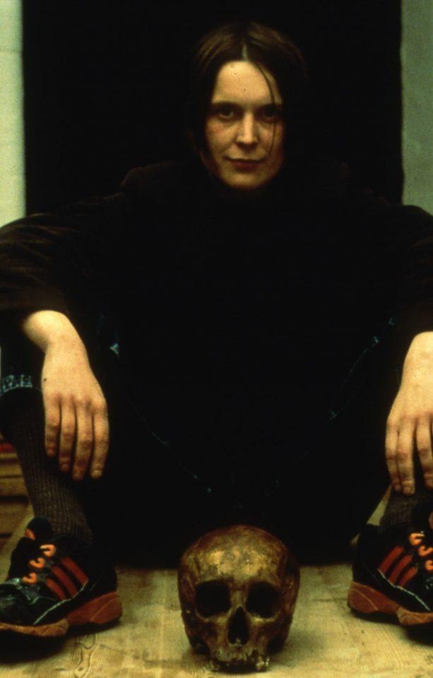 <p>Sarah Lucas, Self Portrait with Skull, 1997,iris prints on paper</p>