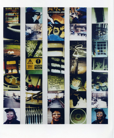 <p>Stephen Willats, <em>Creating My Own Journey, November 1998/April 1999, </em>1999, photo montage</p>