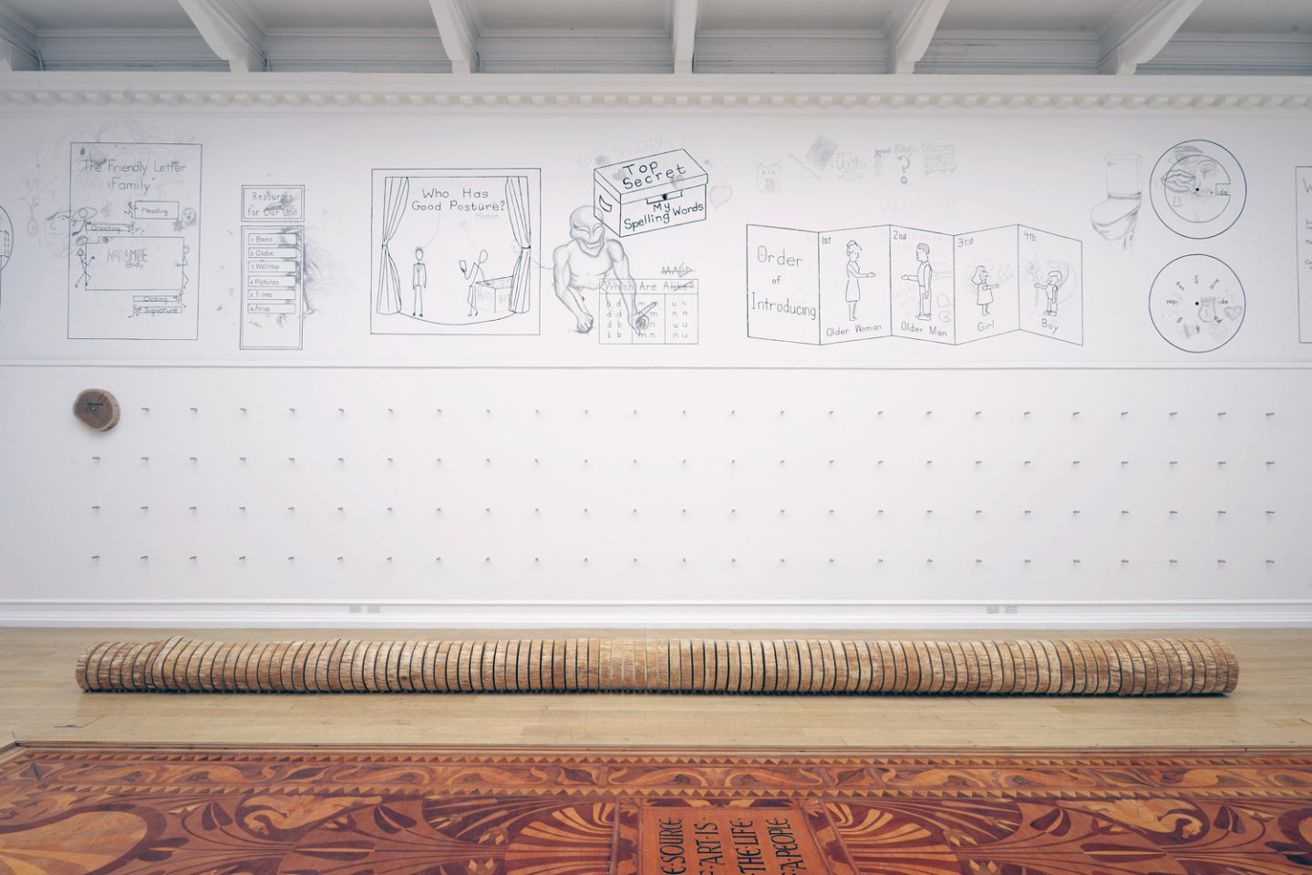 Installation view from Roman Ondak's The Source of Art is in the Life of a People, in the Main Galleries. Courtesy the artist, kurimanzutto, Esther Schipper, gb agency, Martin Janda. Photo: Andy Keate.