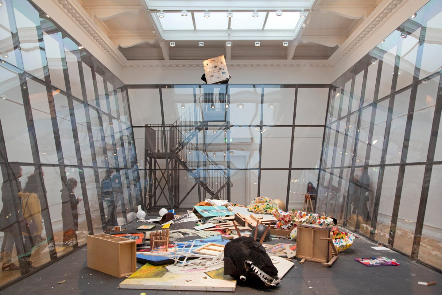 Installation view of Michael Landy&#8217&#x3B;s 2010 exhibition Art Bin installed in the Main Galleries. Photo: Andy Stagg