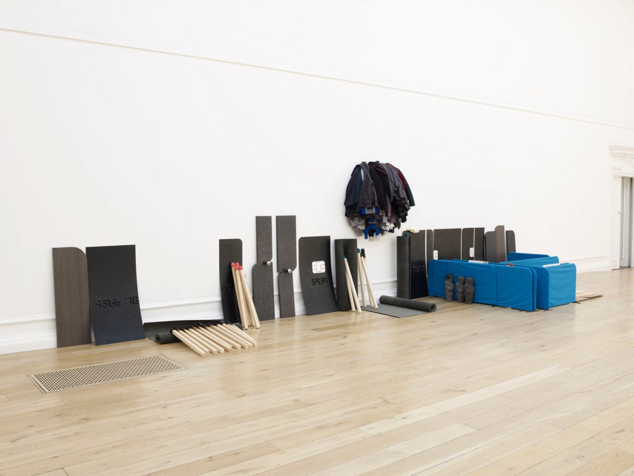 Installation view of Gabriel Kuri&#8217&#x3B;s 2011 exhibition before contingency after the fact. Photo: Marius W Hansen