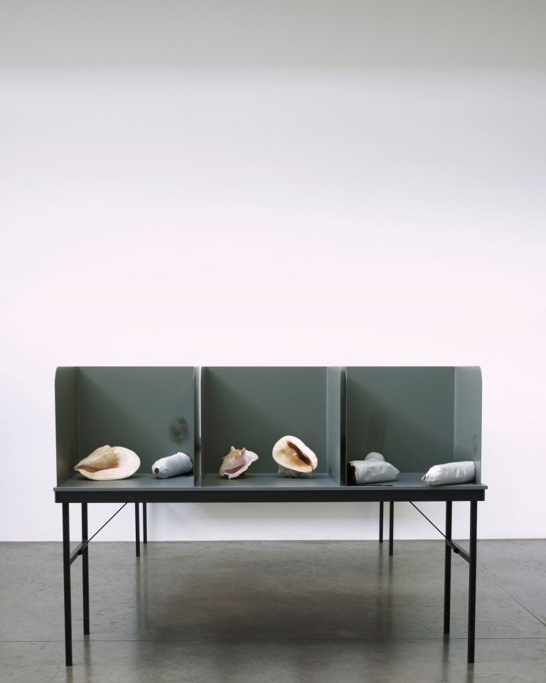 Installation view of Gabriel Kuri's 2011 exhibition before contingency after the fact. Photo: Marius W Hansen