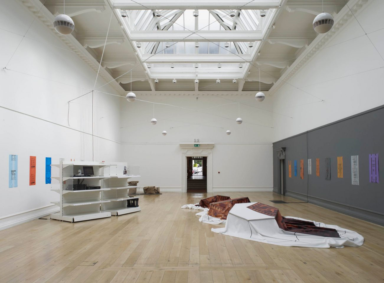 Installation view from Tue Greenfort's exhibition Where the People Will Go. Photo: Andy Keate