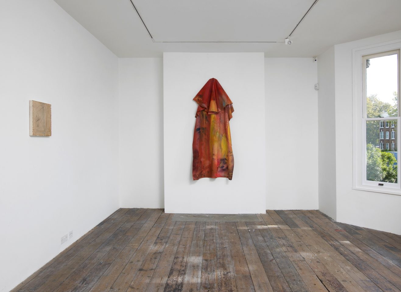 Installation view of Sam Gilliam's One Situation included in the 2012 exhibition Drip, Drape, Draft. Photo: Andy Keate