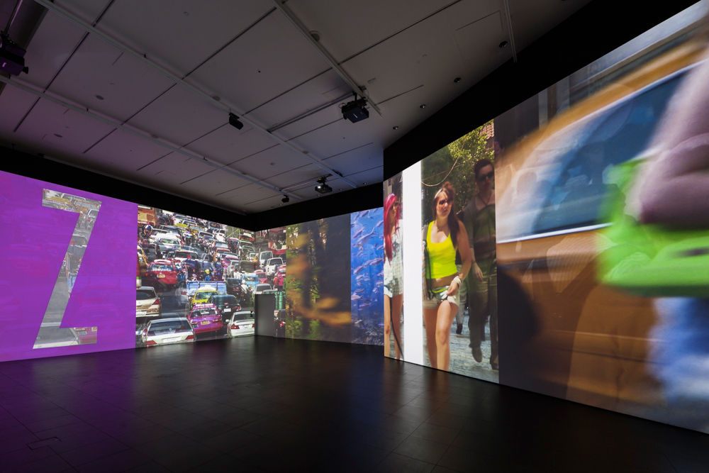 Installation shot of Charles Atlas's offsite project Glacier, 2013. Photo: Dave Morgan