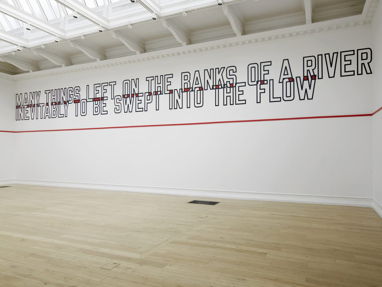 Installation view of Lawrence Weiner's ALL IN DUE COURSE, 2014. Courtesy of Lawrence Weiner (c) ARS, NY and DACS, London 2014. Photos: Andy Keate.
