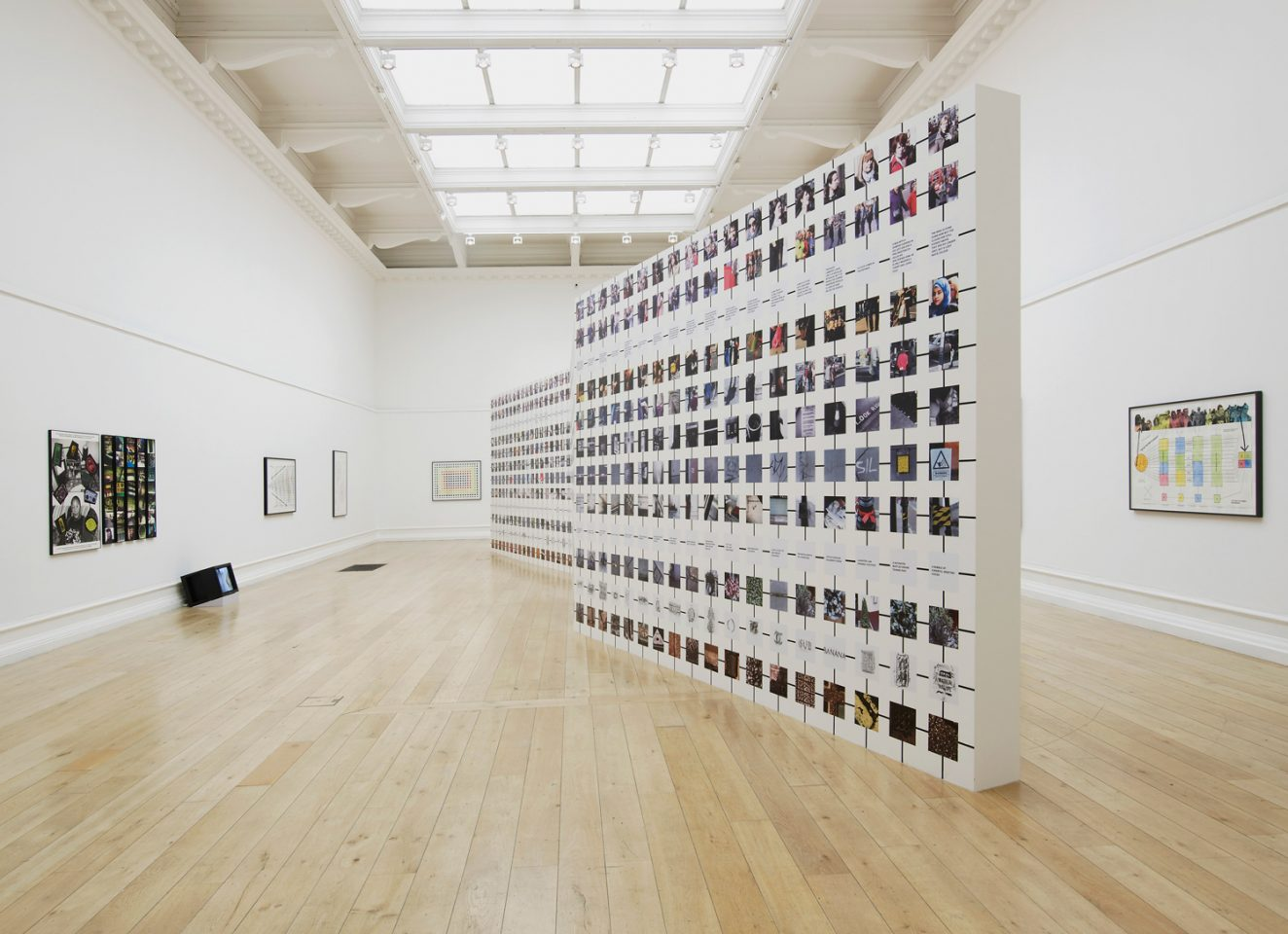 Installation view of a mosaic as part of Stephen Willat's 2012 exhibition People in Pairs in the Main Galleries. Photo: Andy Keate