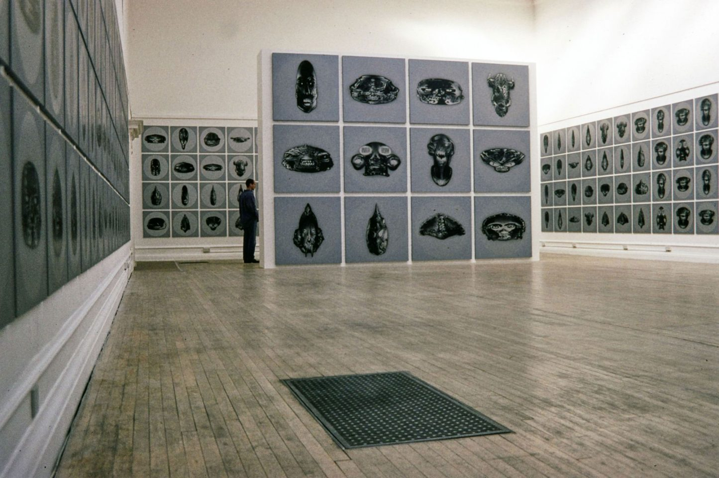 Installation view of 1995 John Dutton & Peter Snadden's exhibition Bad Brains.