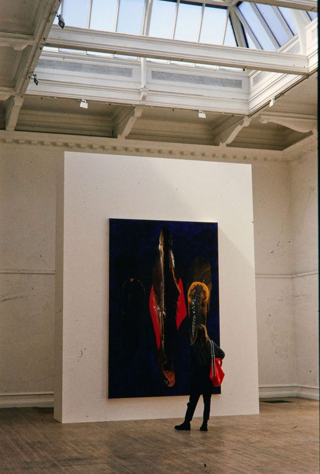 Installation view from Nicholas May's 1994 exhibition of Recent Paintings.