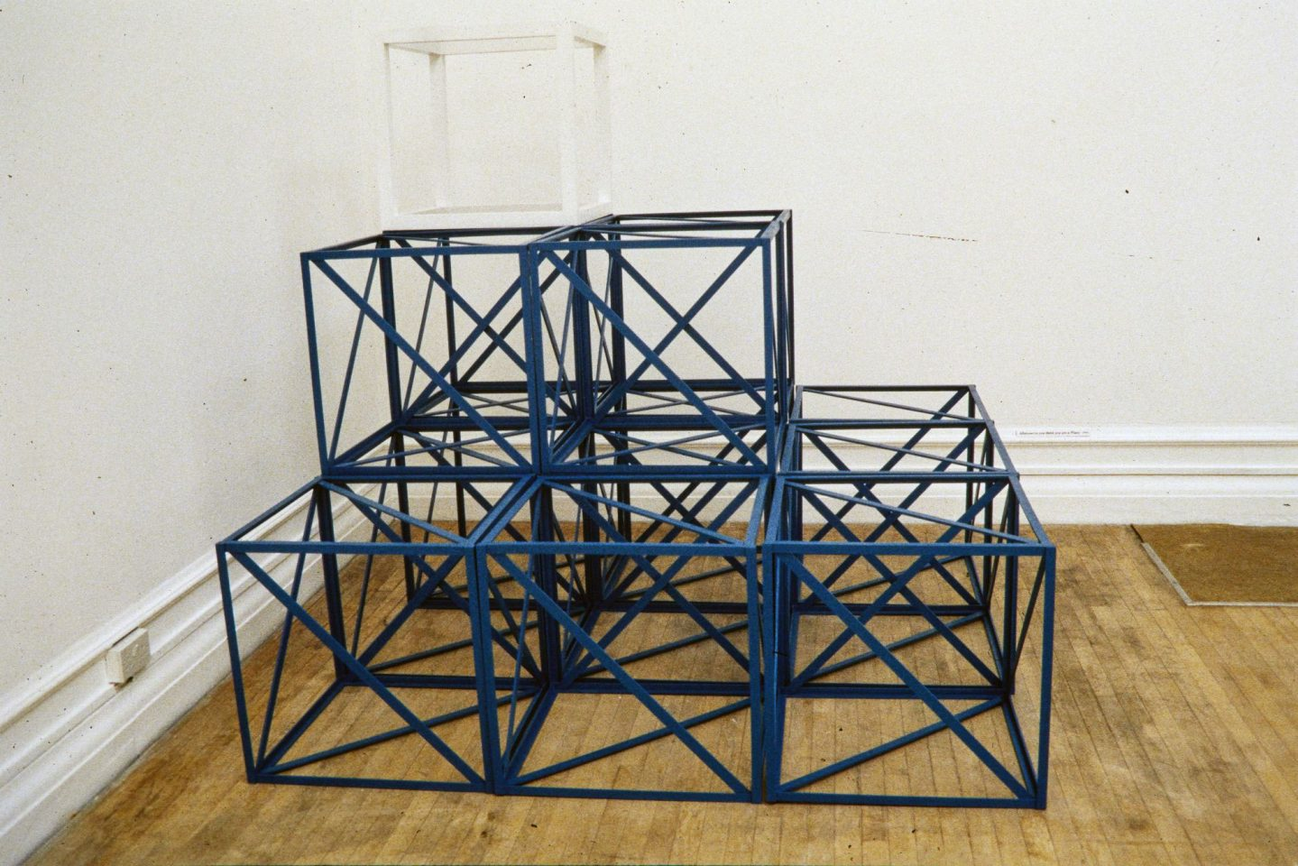 Installation view of Rasheed Araeen's 1994 exhibition.