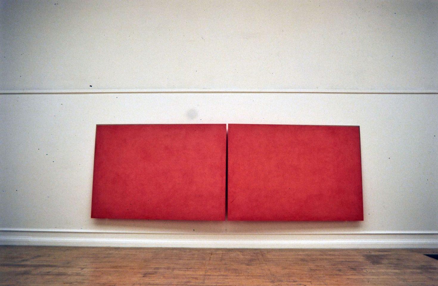 Installation view of Ettore Spalletti 1995 exhibition.