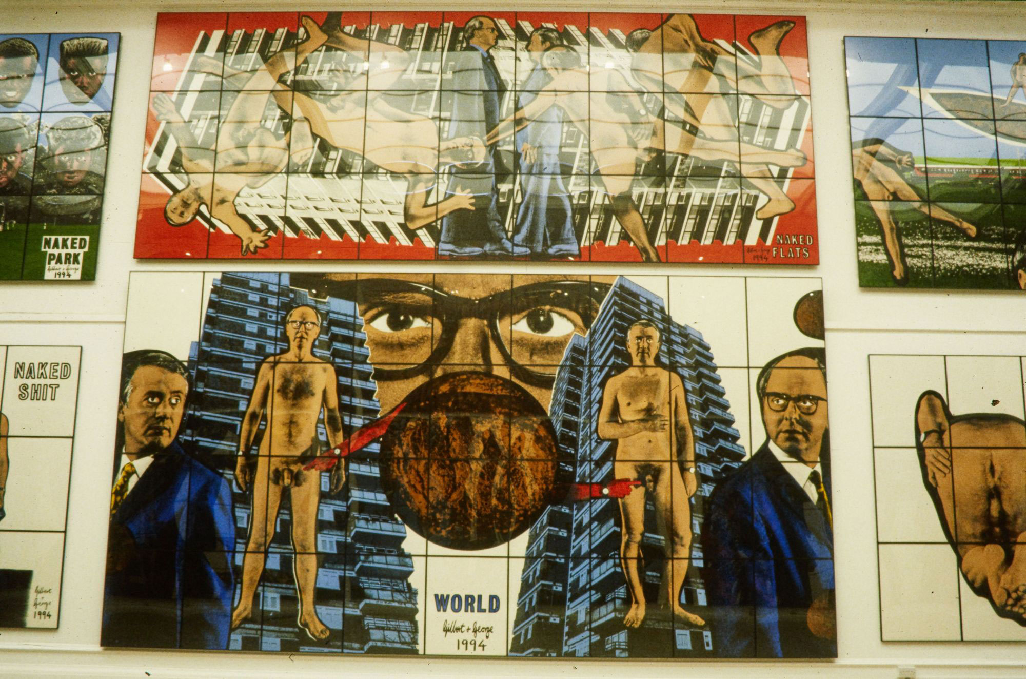 Gilbert & George - The naked shit pictures - Gesigneerd