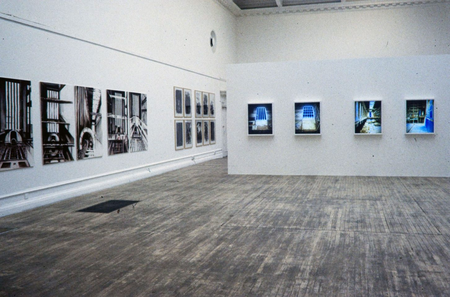 Installation view from Inside Bankside featuring work by Dennis Creffield, Anthony Eyton, Deanna Petherbridge, Terry Smith, Thomas Struth, Catherine Yass.