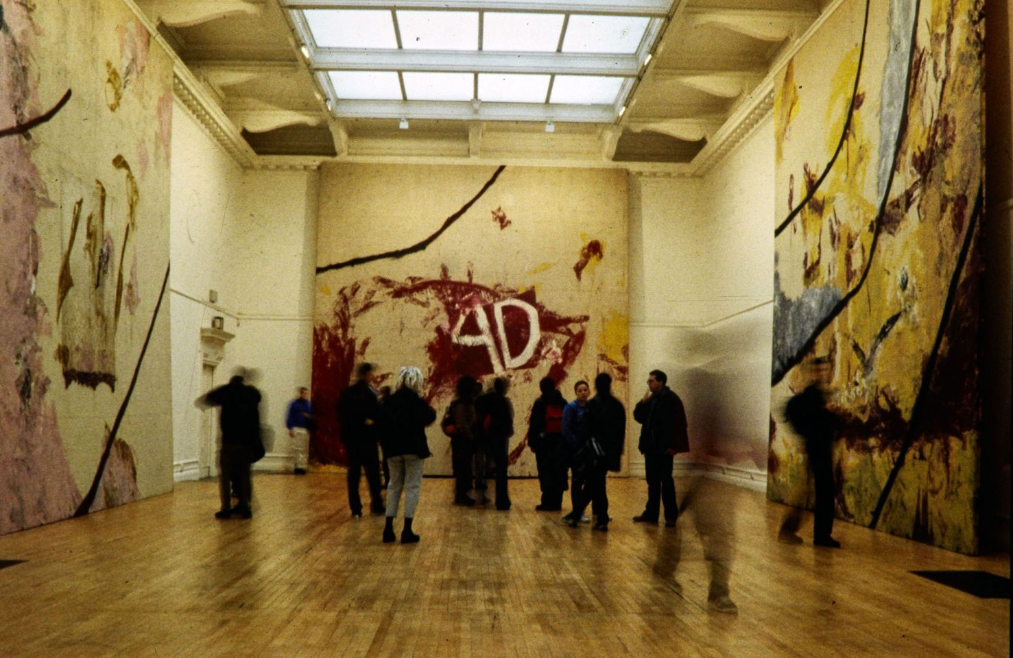 Installation view of Julian Schnabel's 1999 solo exhibition.