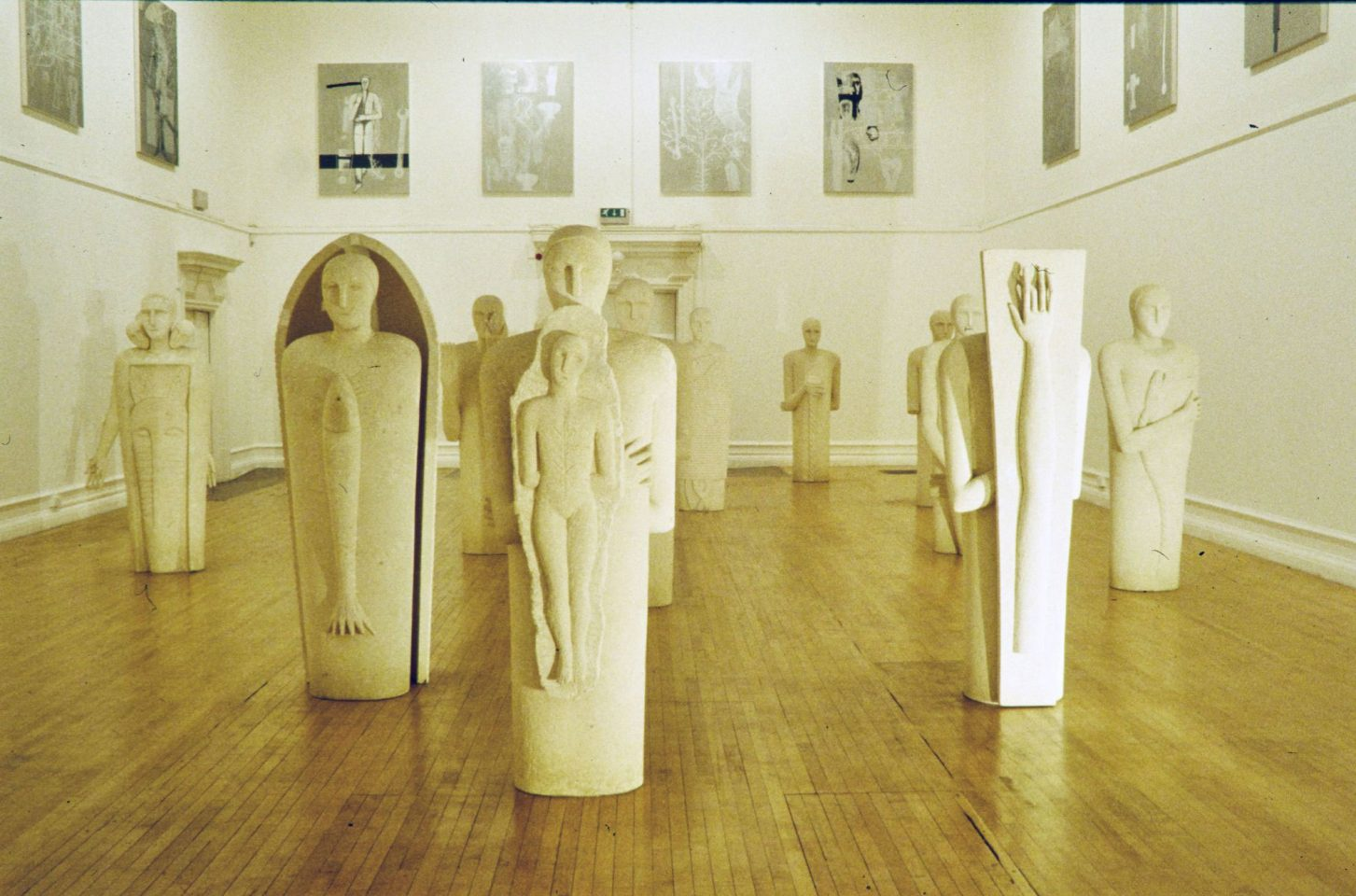 Installation view of Brian Eno & Mimmo Paladino's 1999 exhibition.