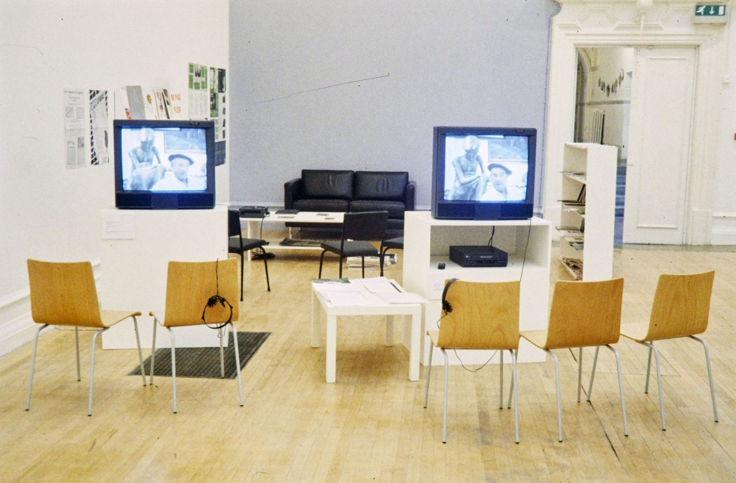 Installation view of 1999 exhibition Non Place Urban Realm.