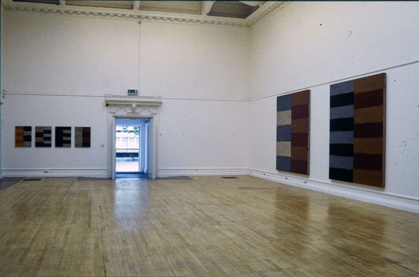 Installation view of Sean Scully's 1999 exhibition.