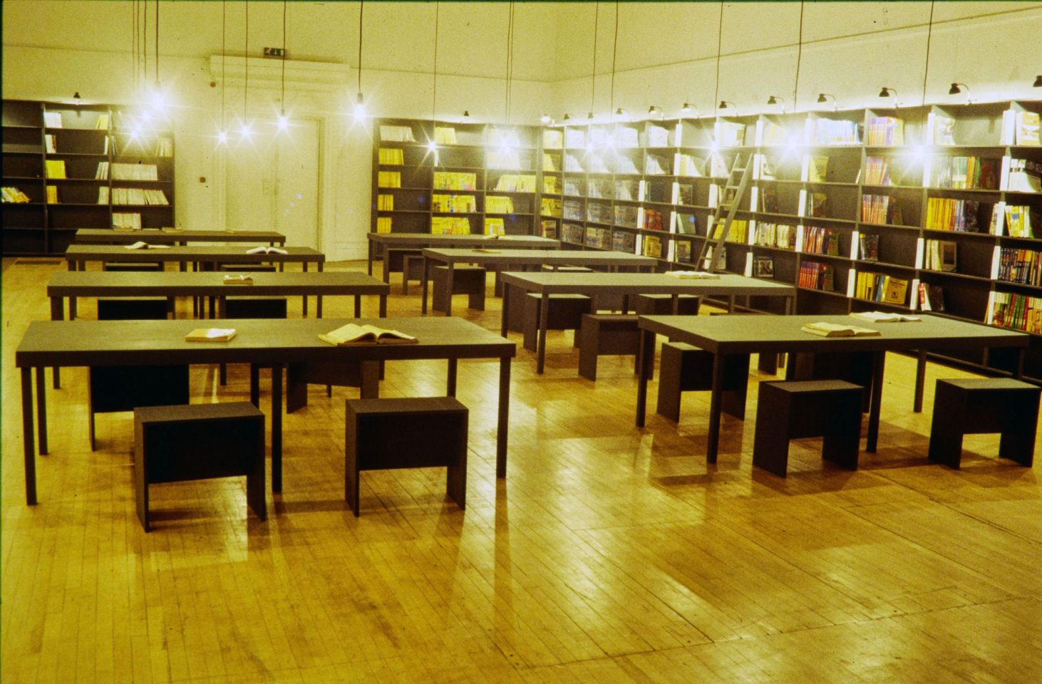 Installation view of Christian Boltanski's Les Abonnes du Telephone.