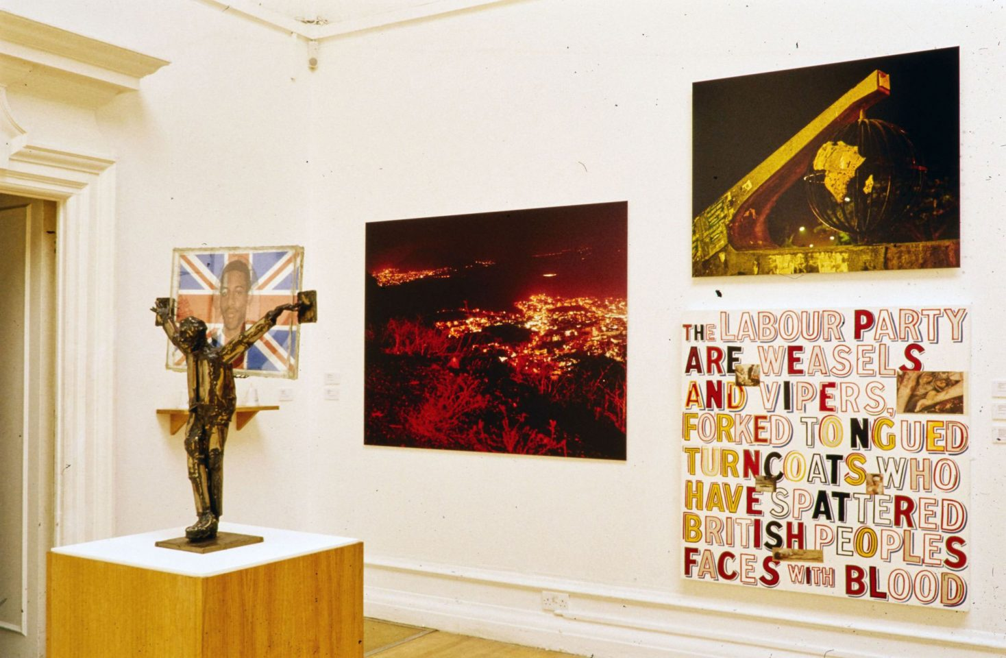 Installation view from the 2003 group show Independence.