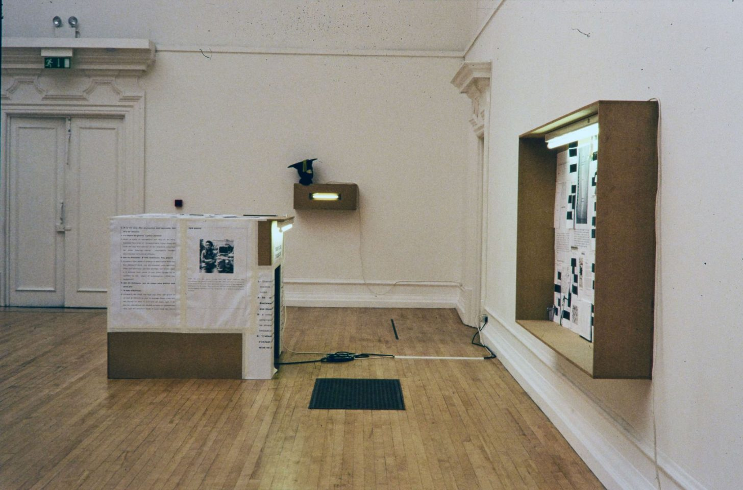 Installation view from 2004 exhibition Perfectly Placed.