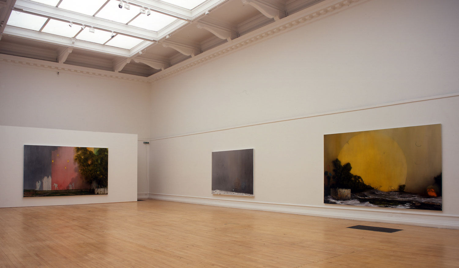 Installation view of Nigel Cooke's 2006 exhibition A Portrait of Everything.