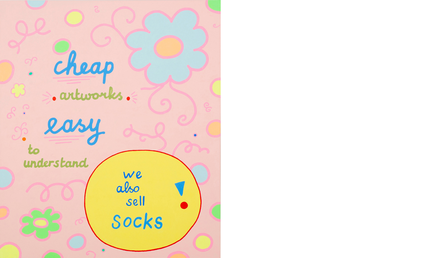Lily van der stokker - cheap artworks easy to understand we also sell socks